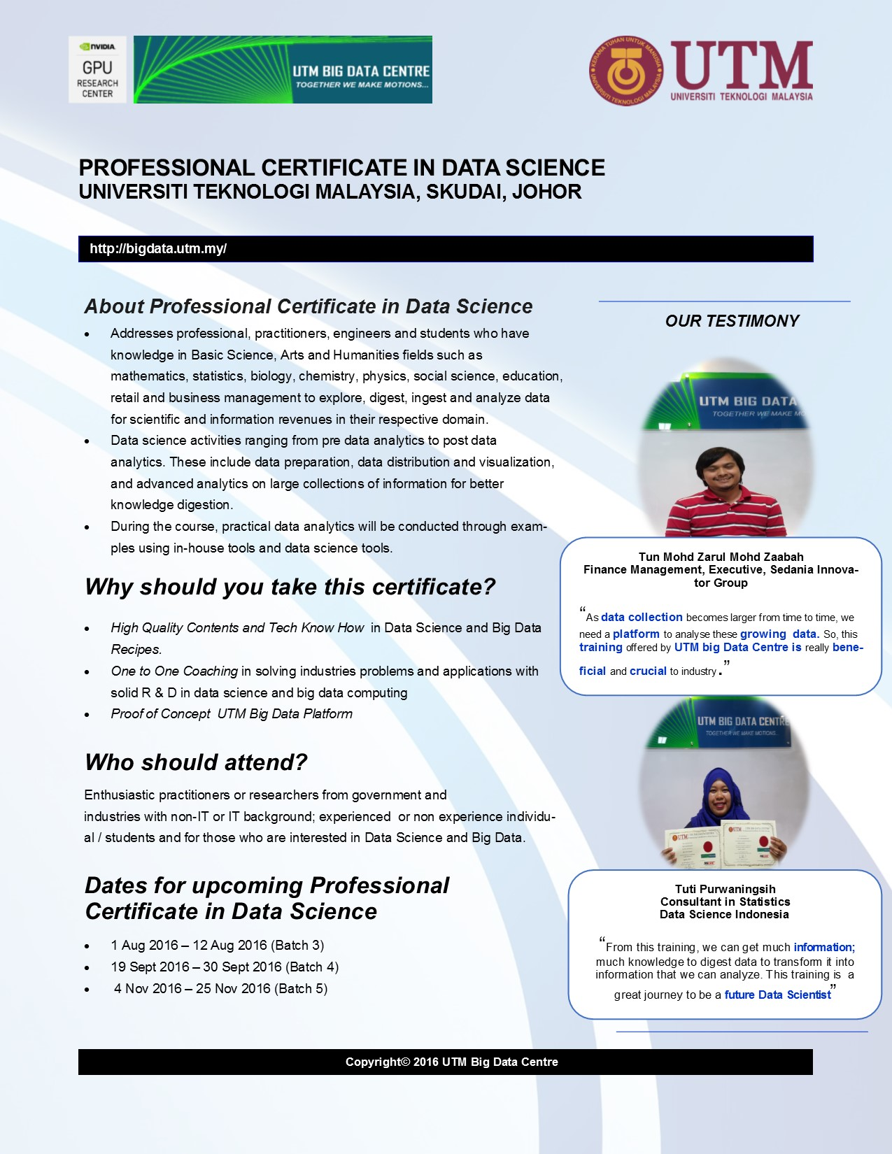 1 12 Aug 2016 Professional Certificate On Data Science Batch 3