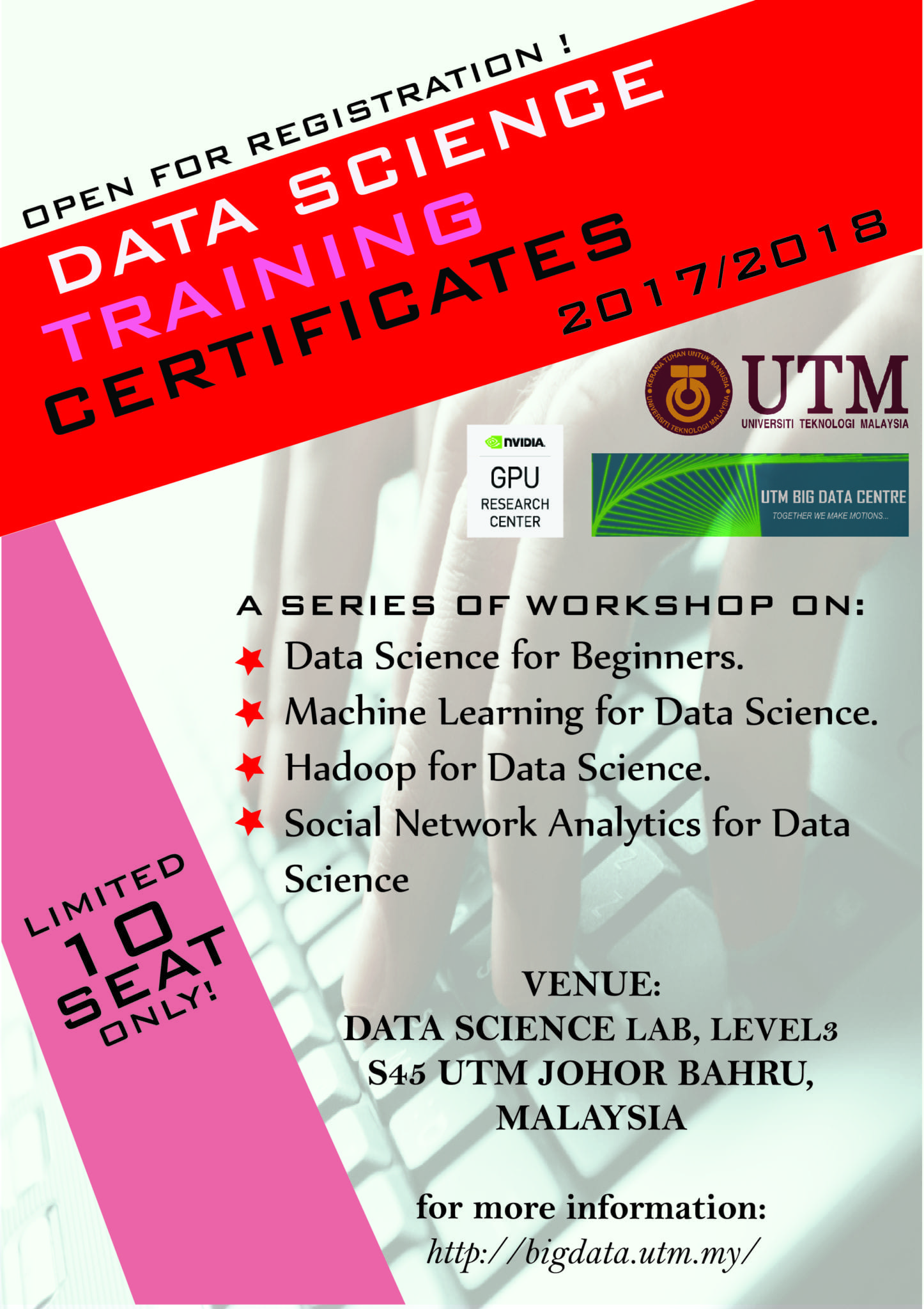 July 2017 Data Science Training Certificates